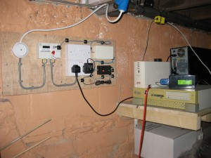 Overview of the server room with metering and FrankenUPS.