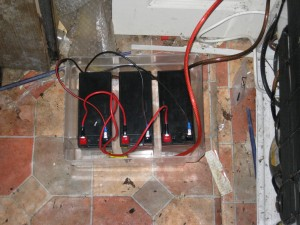 Batteries for FrankenUPS in an old freezer tub
